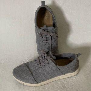 New Toms Del Rey Felt & Suede Sneaker Sz 8.5